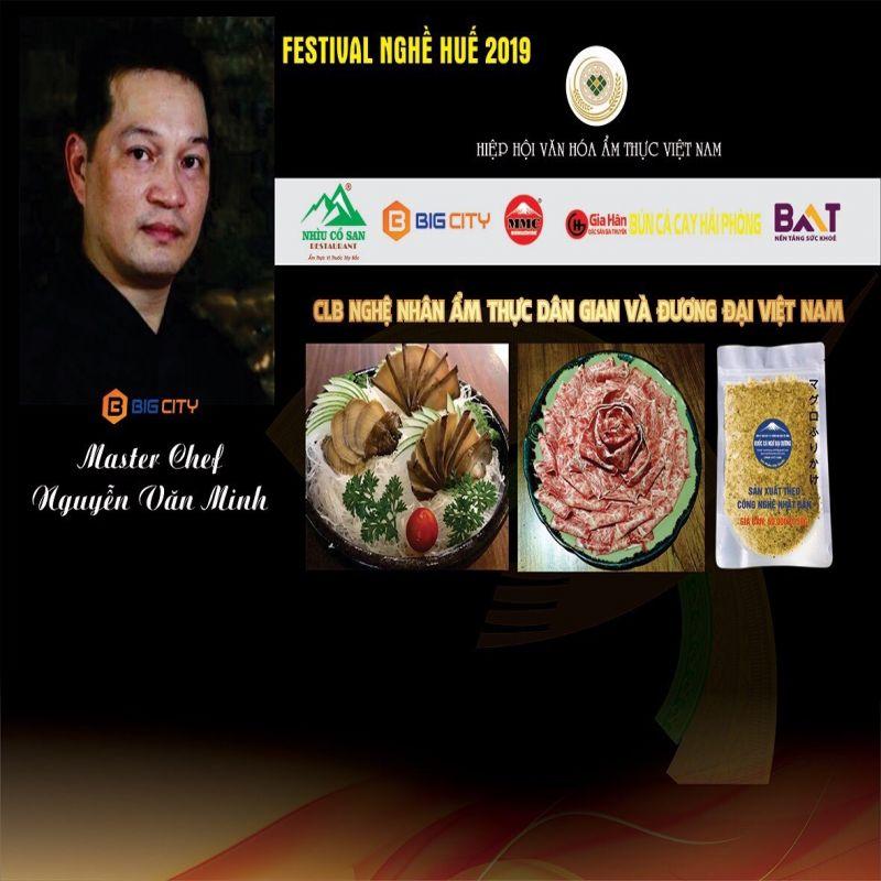BIGCITY ĐỒNG HÀNH CÙNG MASTER CHEF NGUYỄN VĂN MINH TẠI FESTIVAL NGHỀ TRUYỀN THỐNG HUẾ 2019